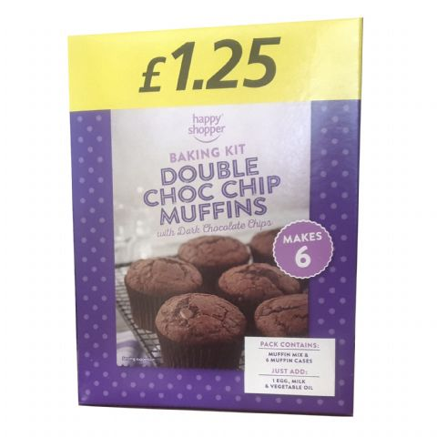 Double Choc Chip Muffins Home Baking Kit Happy Shopper 260g